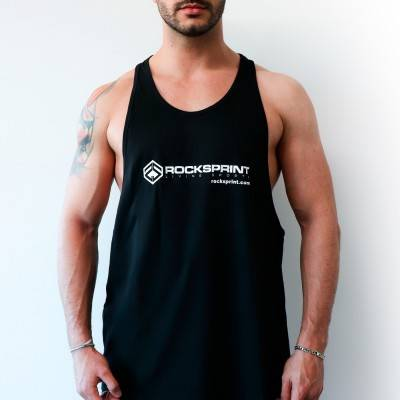 T-SHIRT STRONG GYM ROCKSPRINT Black