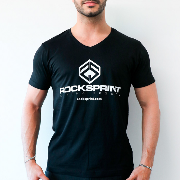 T-SHIRT V-NECK ROCKSPRINT Black